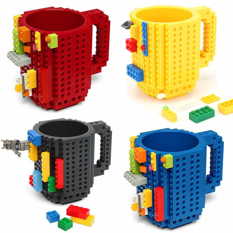 12oz Coffee Mug Build-On Brick Mug Type Building Blocks Cup DIY Block Puzzle Mug Drinkware Drinking Mug 11 Colors | Better Bits 'n' Bobs