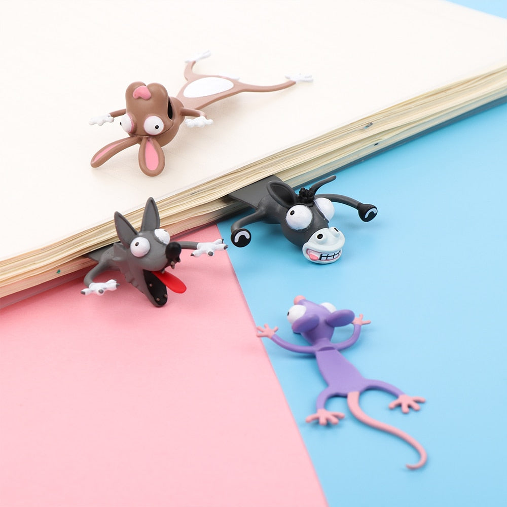 3D Cartoon Bookmarks - 4 Piece Set | Better Bits 'n' Bobs