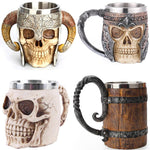 Load image into Gallery viewer, Viking Resin Imitated Wood Cup Beer Coffee Mug Tea Cup Game Lovers Gift | Better Bits 'n' Bobs
