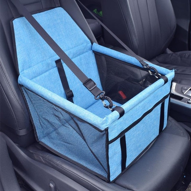 Dog Car Seat Portable Pet Booster Car Seat with Clip-On Safety Leash and PVC Support Pipe, Anti-Collapse, Perfect for Small Pets | Better Bits 'n' Bobs