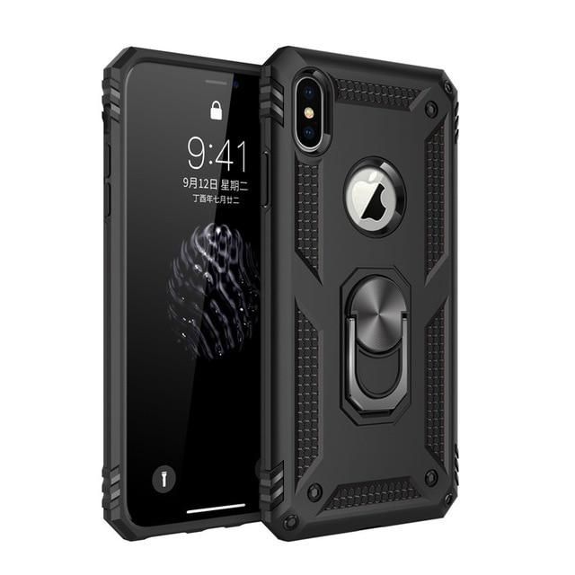 iPhone Holster Case Full Body Protection Shockproof Hard PC Armor Case with Built-in Ring Kickstand for Apple iPhone 11 Pro XR XS Max X 6 6S 7 8 Plus | Better Bits 'n' Bobs