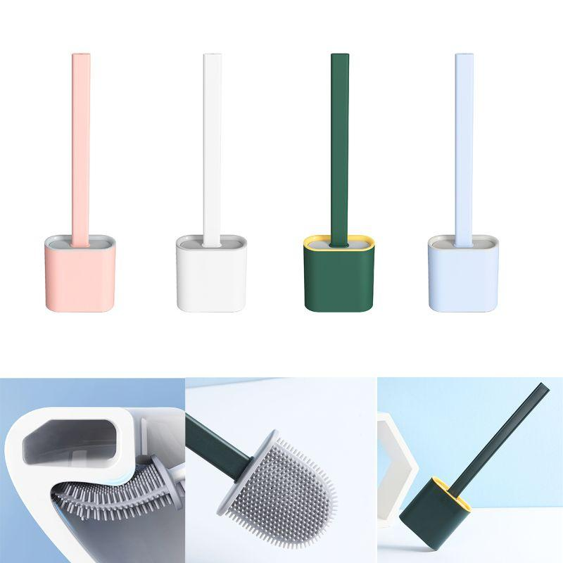 Durable Flat Head Toilet Brush & Ceramic Holder Set | Better Bits 'n' Bobs