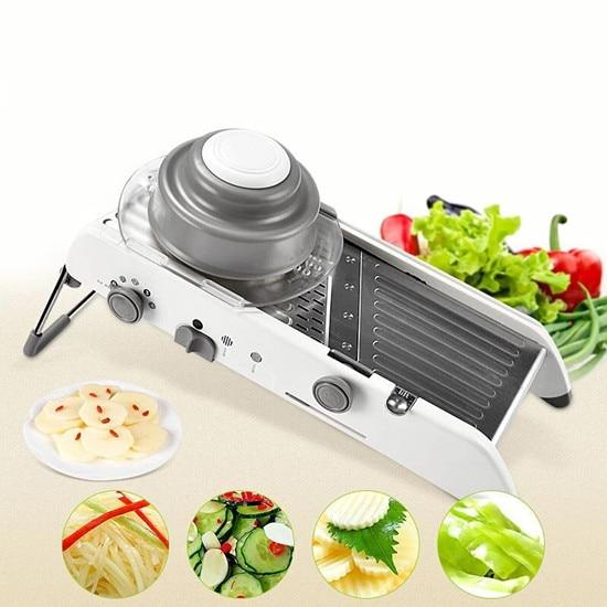 Professional Multi-Function Slicer Chopper 7 in 1 or Adjustable Vegetable & Fruit Tools | Better Bits 'n' Bobs