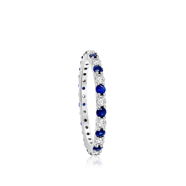 Alternate Gemstone and Diamond Eternity Band