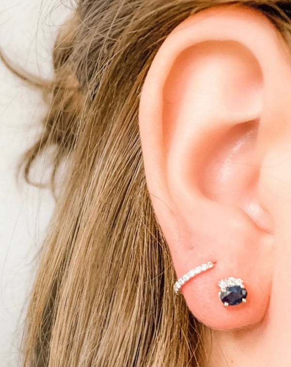 Sapphire Accented Studs