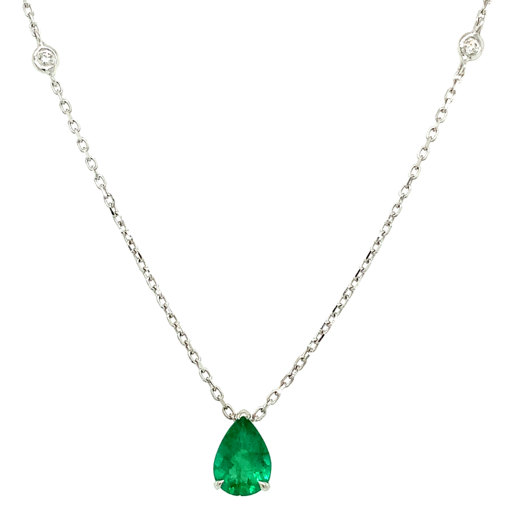 Gemstone Pear Necklace