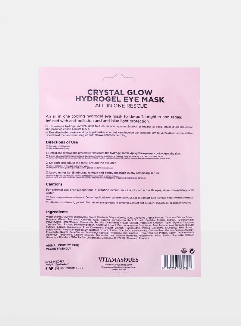 Crystal Glow Hydrogel Eye Mask
