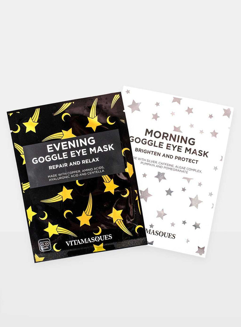 Duo Pack: Morning and Evening Eye Goggle Masks — Vitamasques