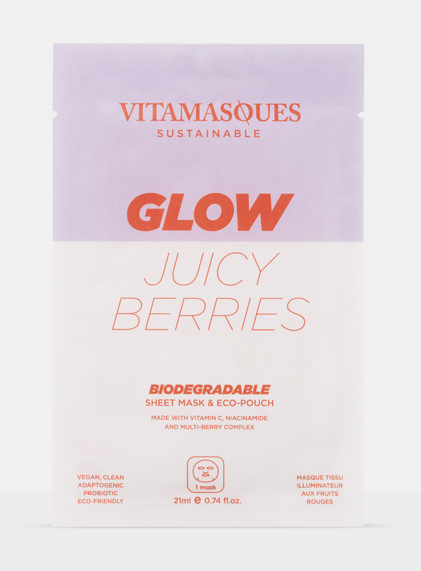 Glow Juicy Berries Biodegradable Mask
