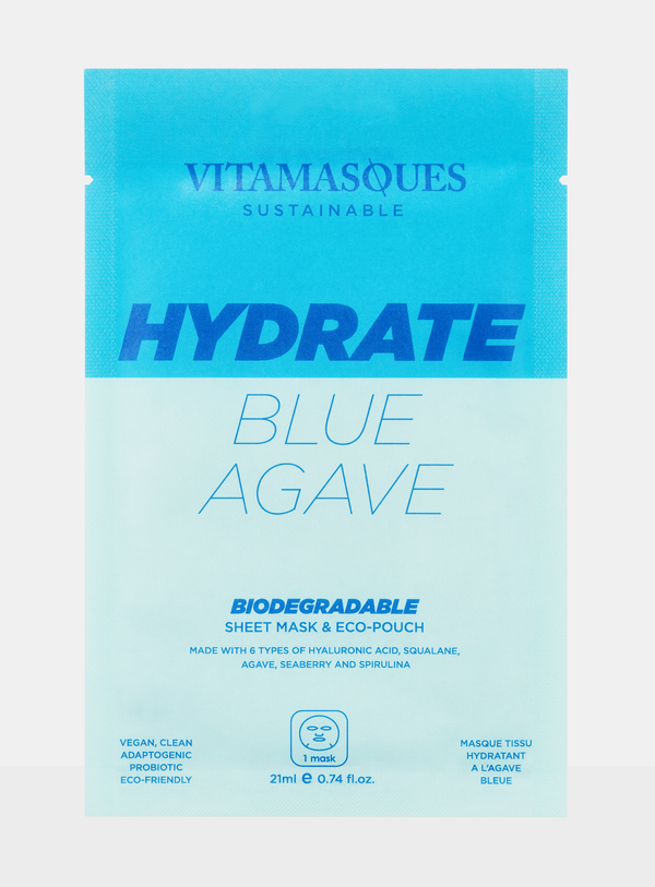 Hydrate Blue Agave Biodegradable Mask