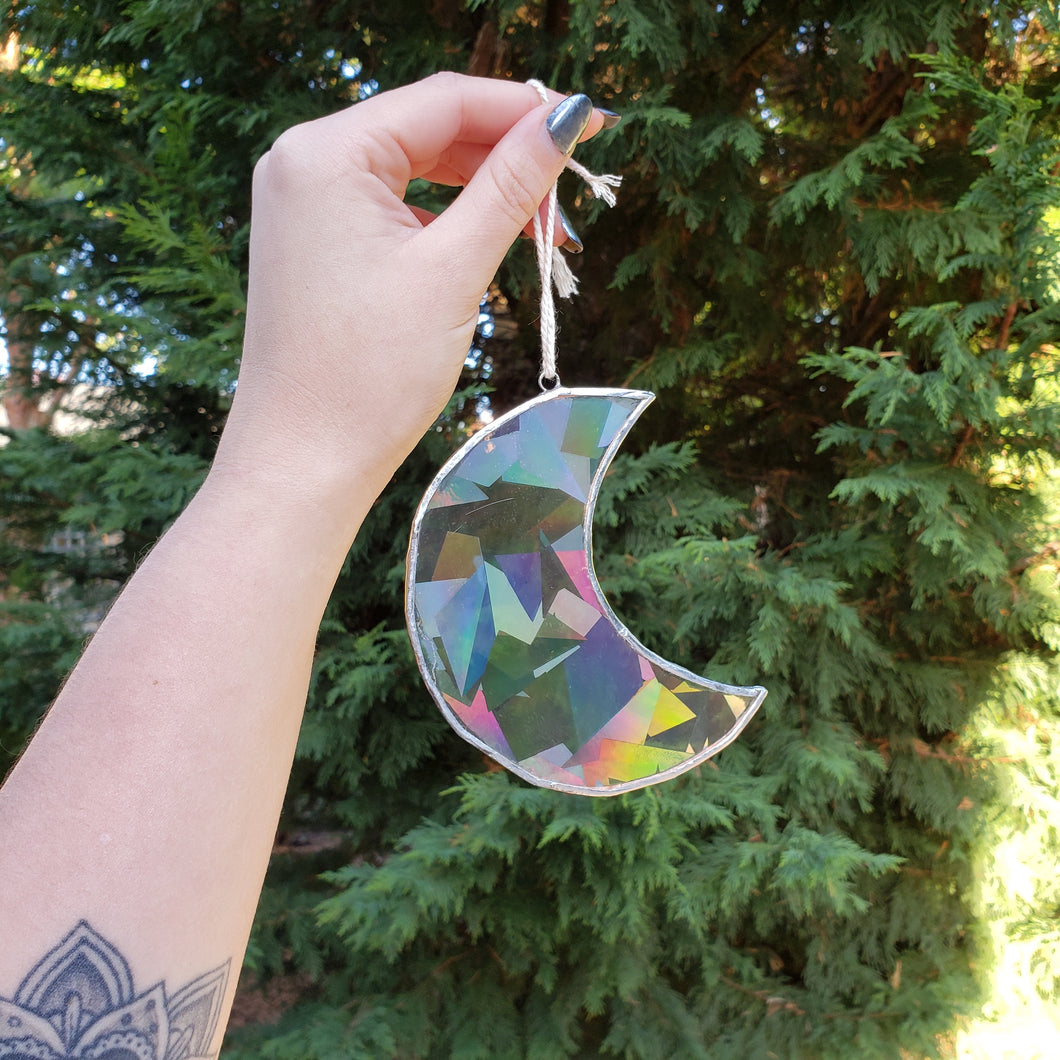 Rainbow Crescent Suncatcher