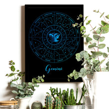 Load image into Gallery viewer, Gemini Zodiac Wheel