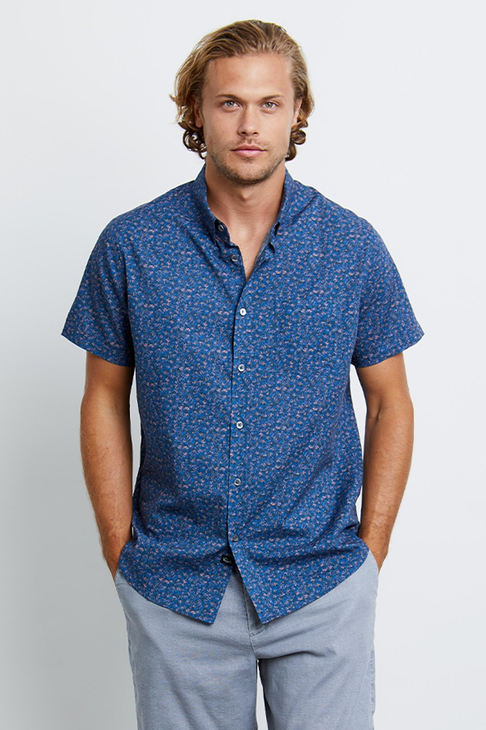 Rails MONACO Short Sleeve Buttondown / Petals 3D - nineNORTH