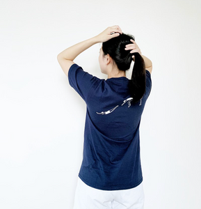 深藍色跳水女孩 T 恤|Dark blue diving girl T-shirt