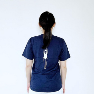 深藍色 Diving Girl T 恤|Dark Blue Diving Girl T-Shirt