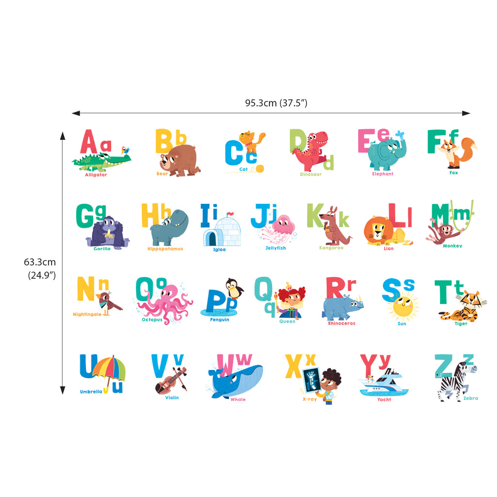 Alphabet, Kids Shower Curtain Liner