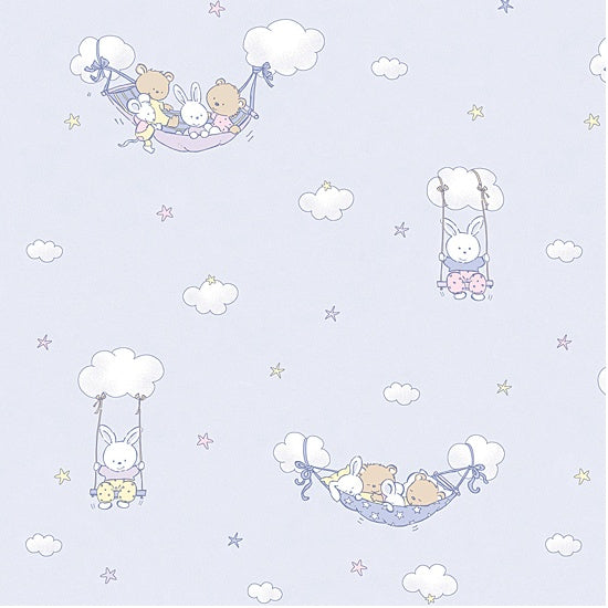 Swings made of Clouds Blue Wallpaper (50cm - 100cm)