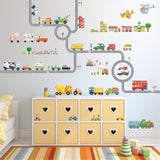 The Road and Transports Wall Stickers