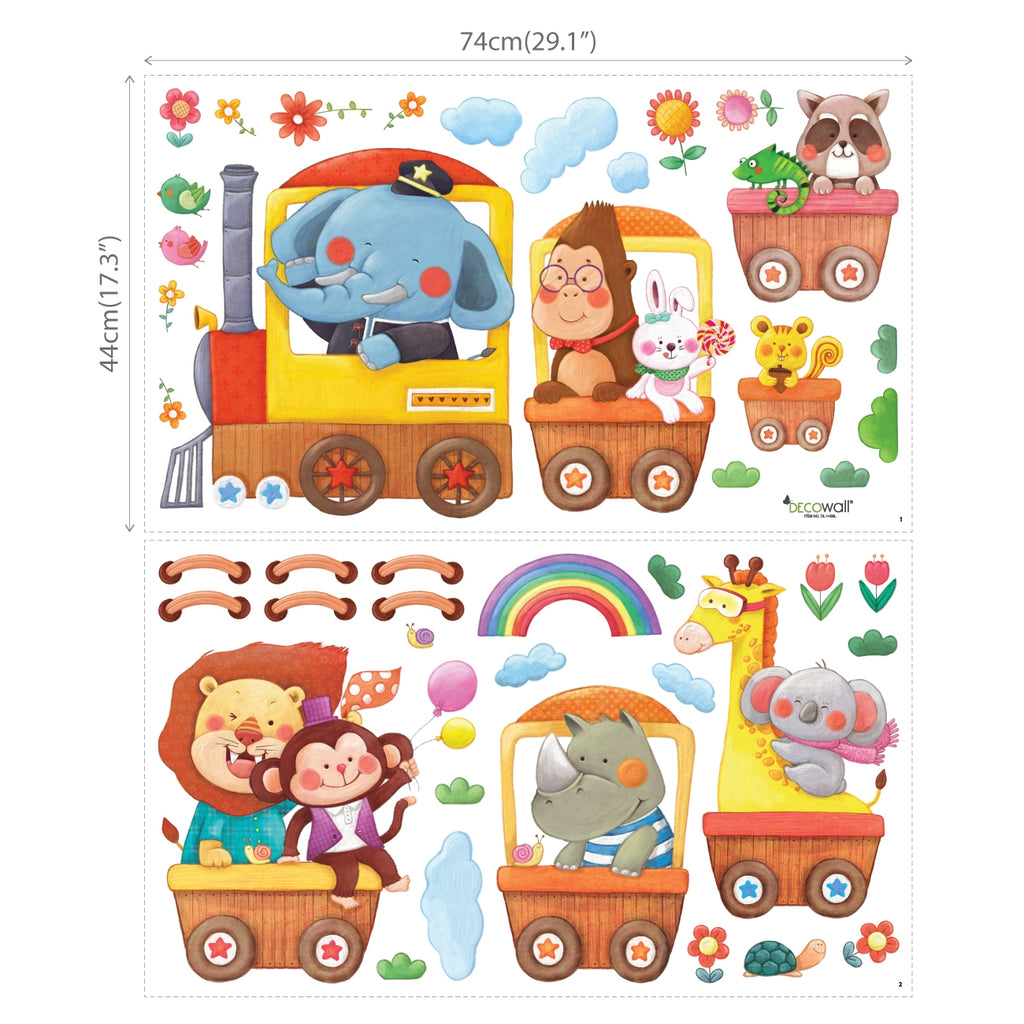 Animal Trains Wall Stickers (XLarge)