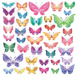 Watercolour Butterflies Wall Stickers