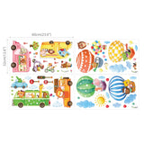 Animal Transports and Hot Air Balloons Wall Stickers