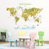 World of Animals Wall Stickers