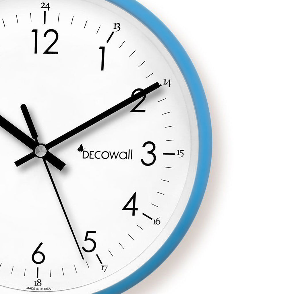 Silent Non Ticking Metal Modern Colour Wall Clock (Blue)