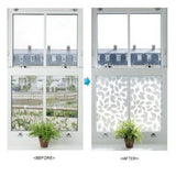31822 Glitter Leaves Decorative Frosted Window Film