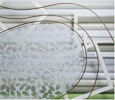 31822 Glitter Leaves Decorative Frosted Window Film - DECOWALL