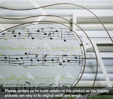 31831 Musical Notes Decorative Frosted Window Film - DECOWALL