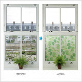 31843 Green Leaves Decorative Frosted Window Film