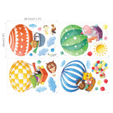Animal Hot Air Balloons Wall Stickers (Small)