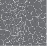 84055 Flower Decorative Frosted Window Film