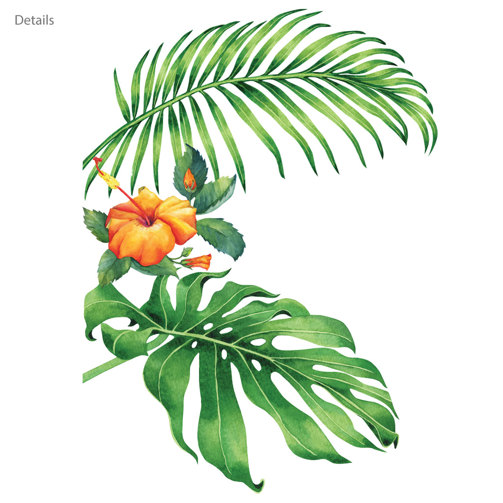 Tropical Plant Wall Stickers