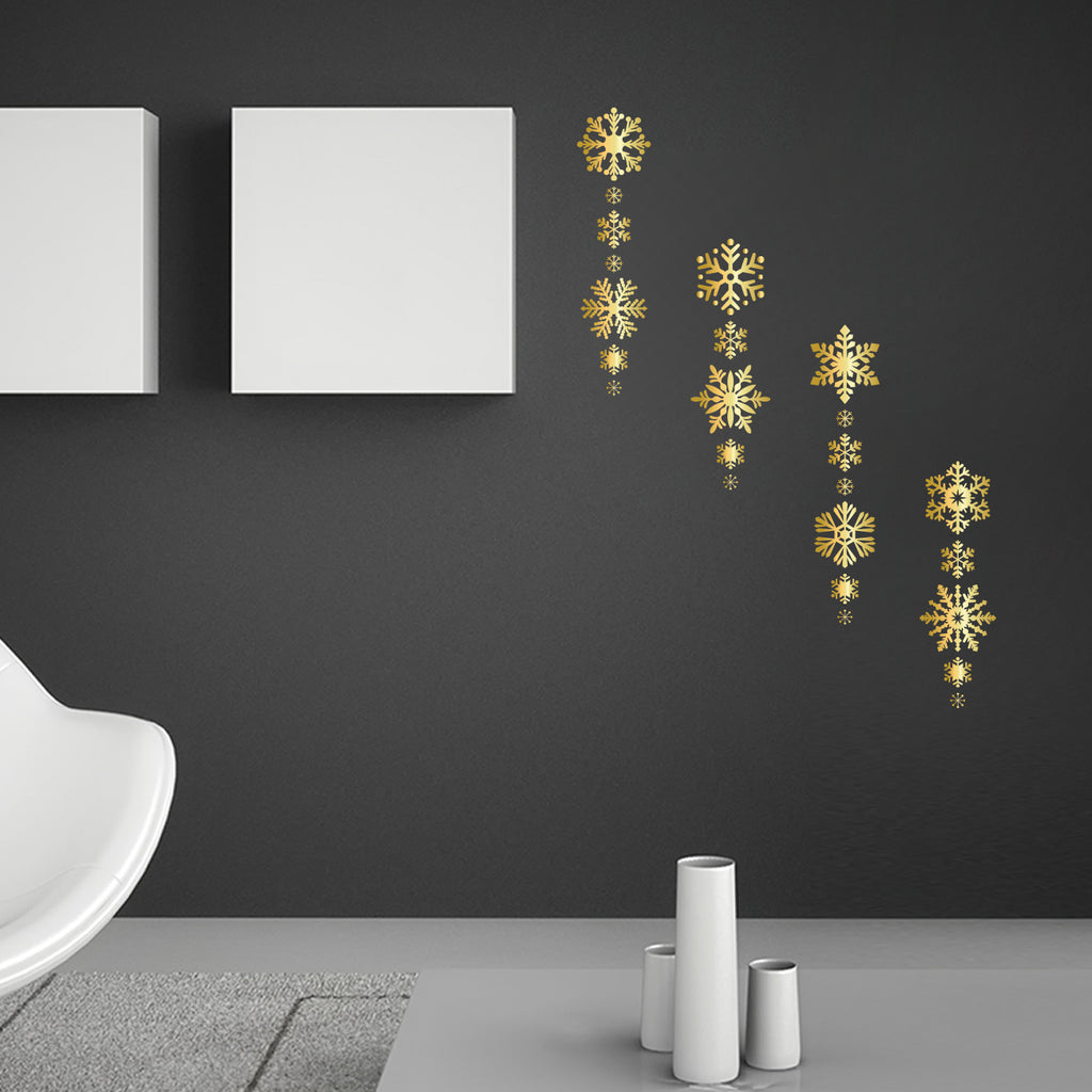 24 Christmas Snowflakes Graphic Stickers_Gold