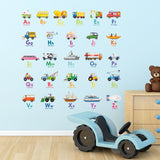 Transport Alphabet Wall Stickers - DECOWALL