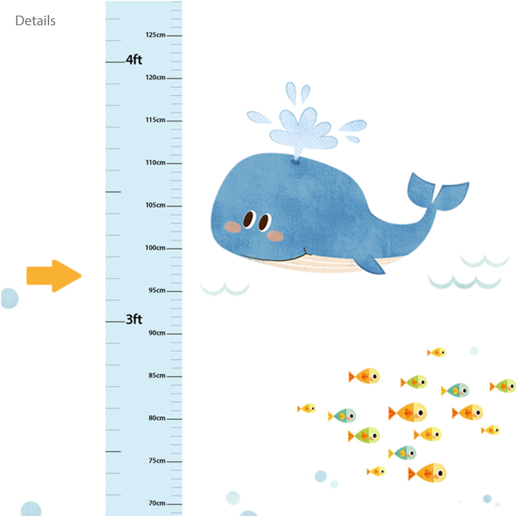 Sea Adventure Height Chart Wall Stickers
