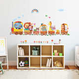 Animal Trains Wall Stickers