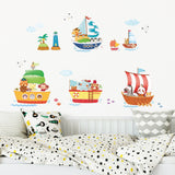 Animal Ships Wall Stickers