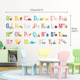 Alphabet Wall Stickers (Large) - DECOWALL