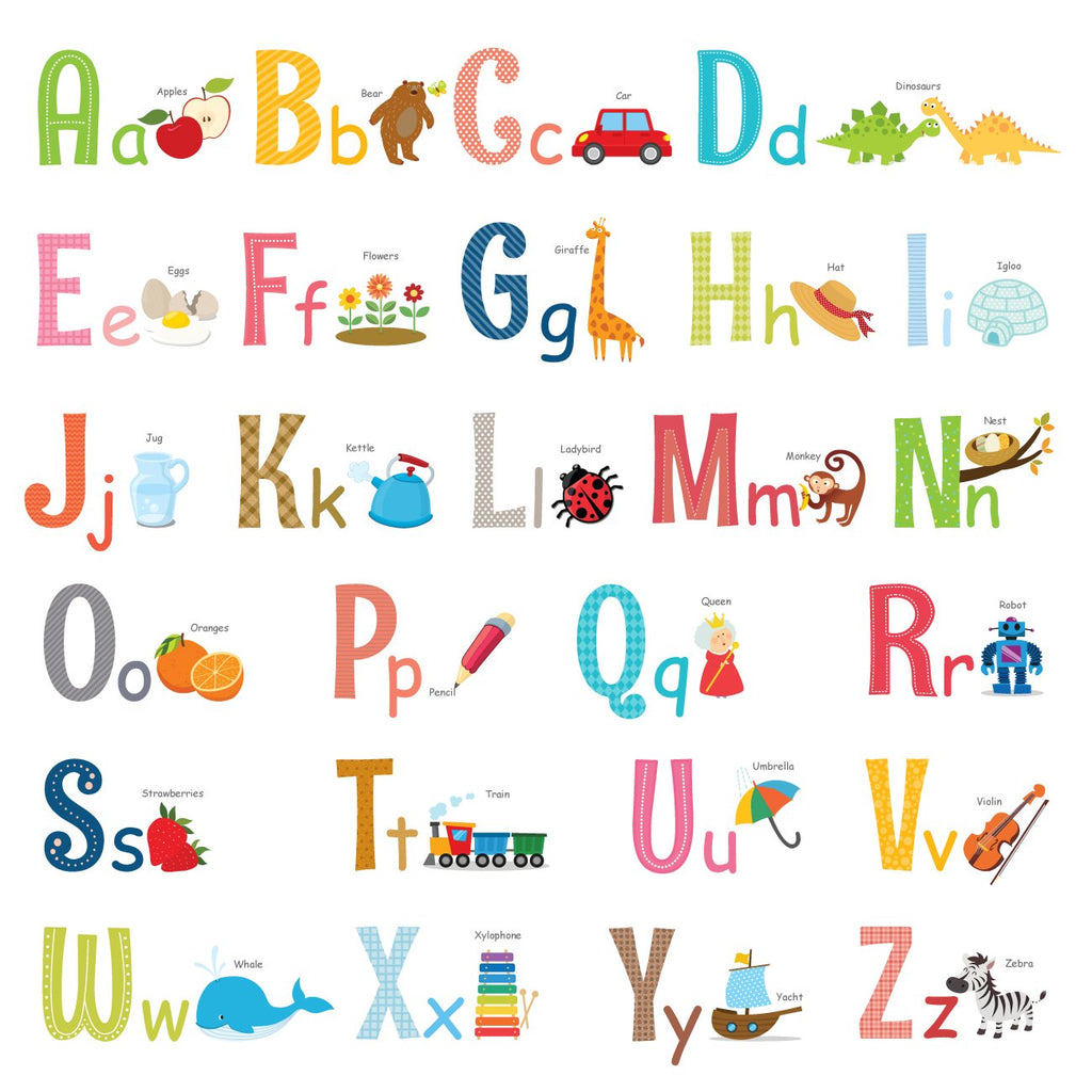 Alphabet Wall Stickers (Large)