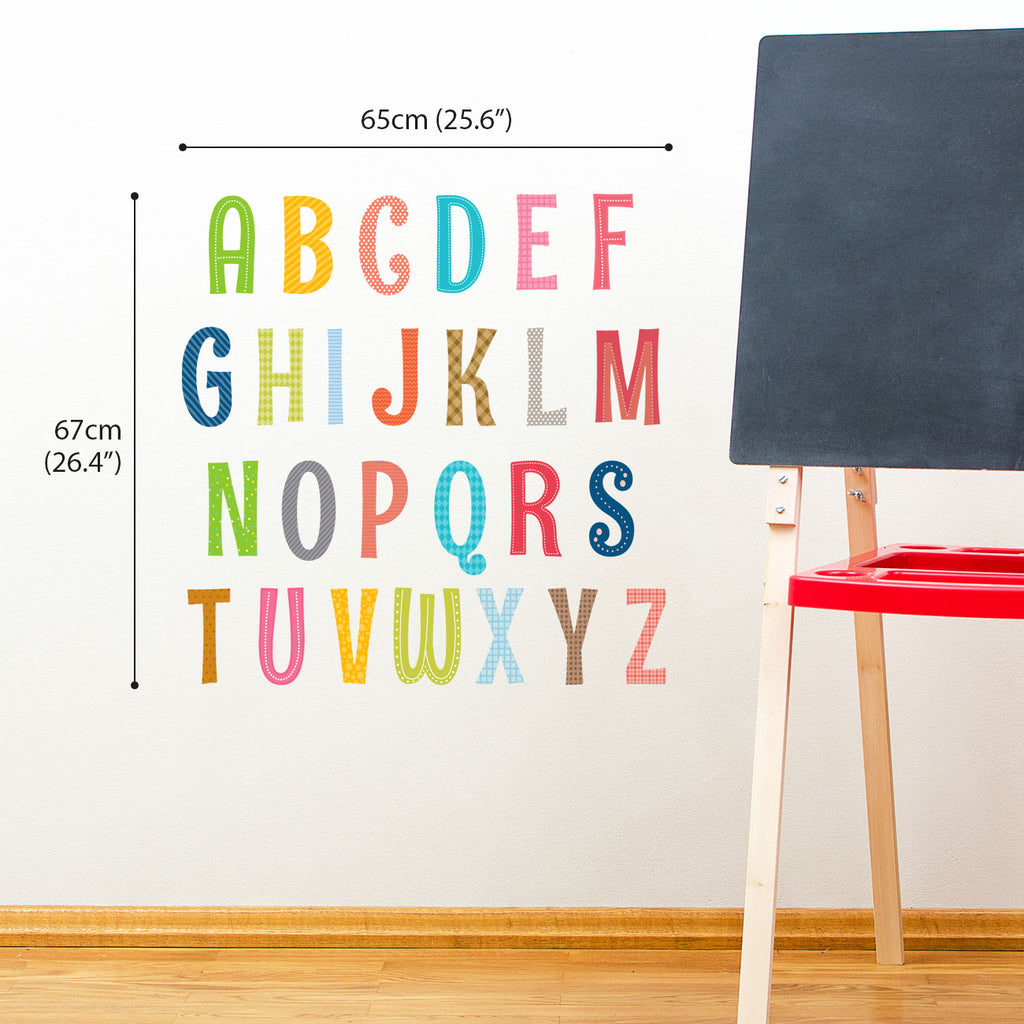 Uppercase Alphabet Letter Wall Stickers