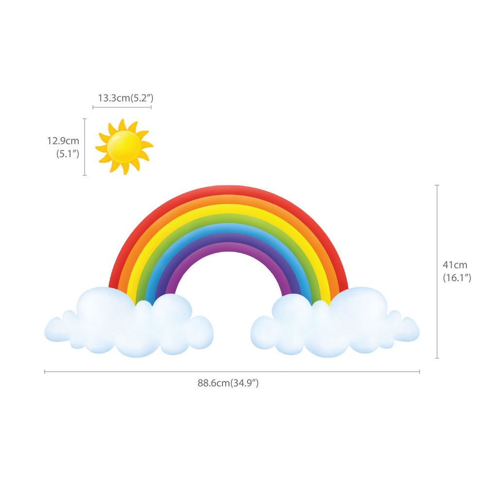 Rainbow and Clouds Wall Stickers