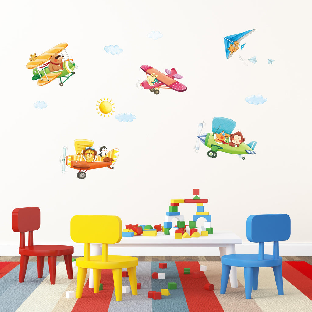Animal Biplanes Wall Stickers (XLarge)