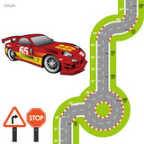 Racing Track Height Chart Wall Stickers Wall Stickers