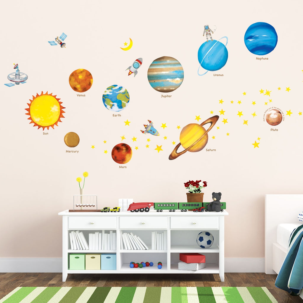 Planets in the Space Nursery Wall Stickers (Large)
