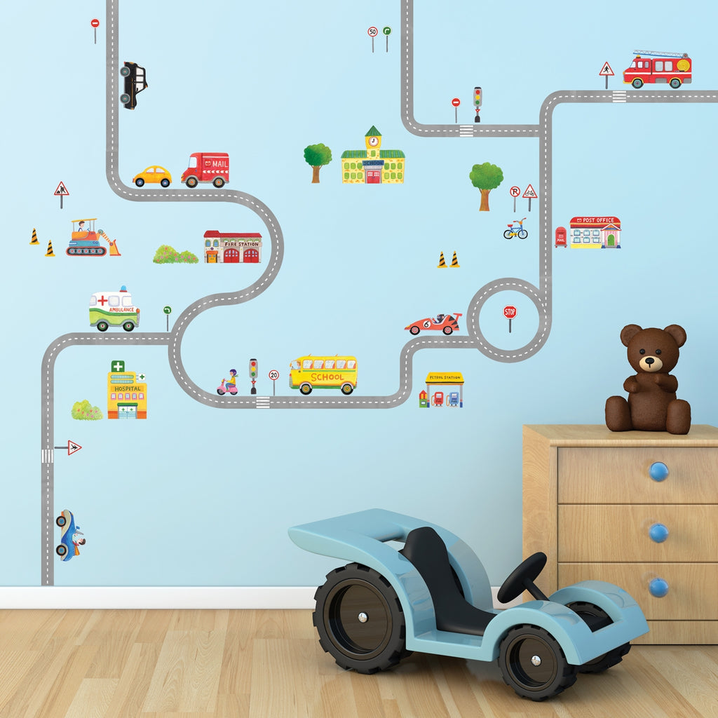 The Road and Cars Wall Stickers(L)