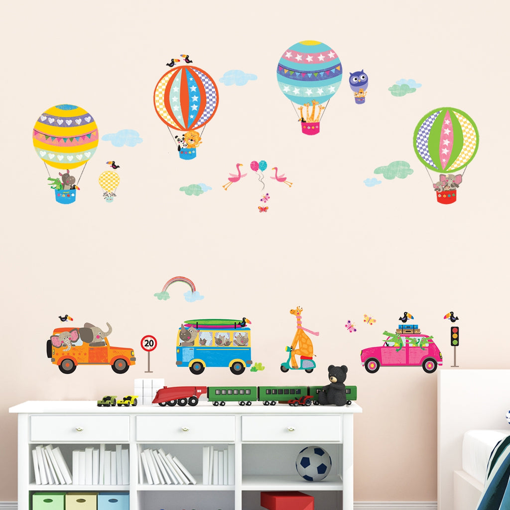 Animals in Transports Wall Stickers