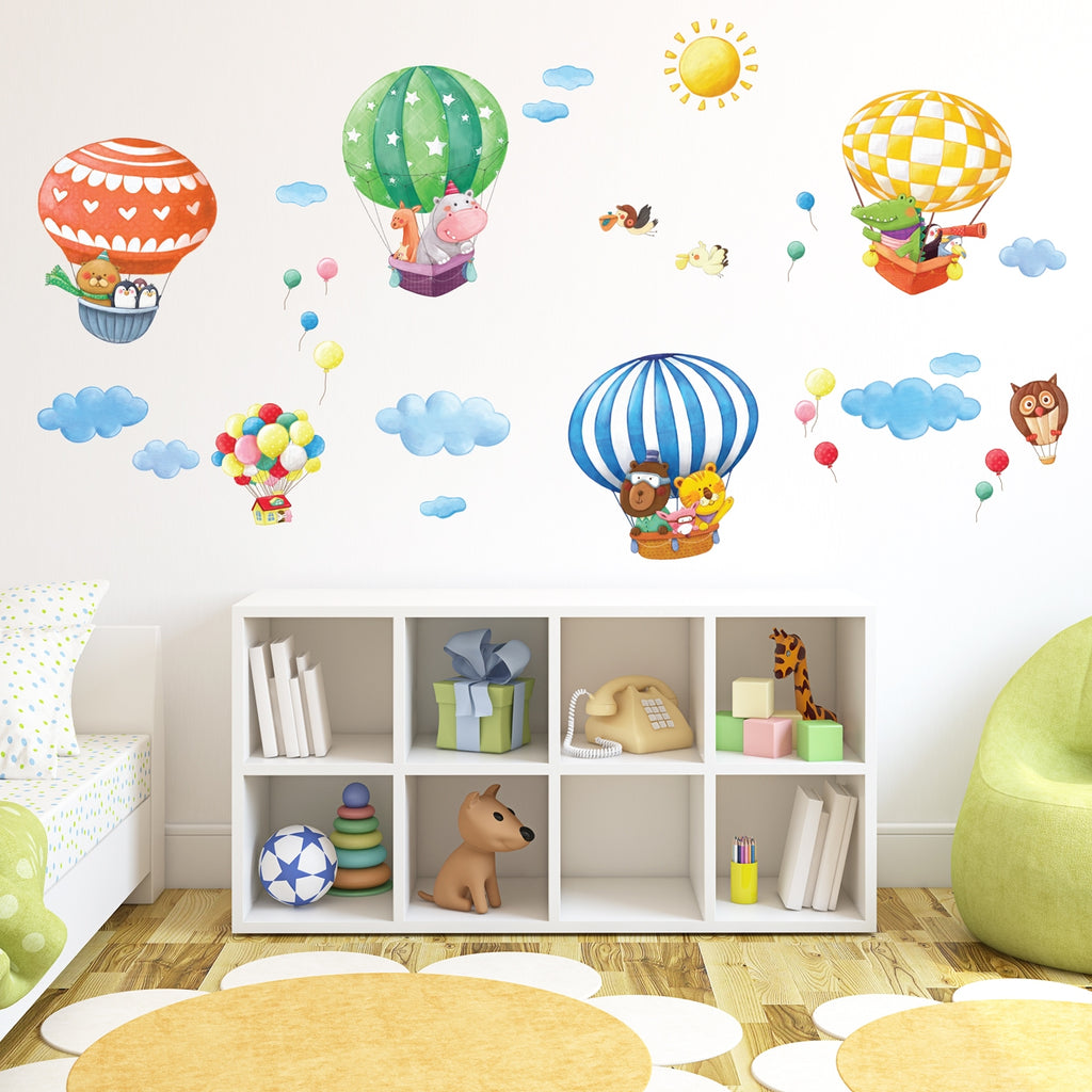 Animal Hot Air Balloons Wall Stickers (XLarge)
