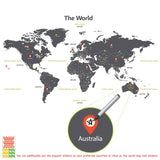The World Wall Stickers_Grey
